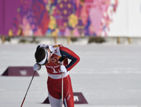 Sad Norwegian skier