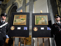 Recovered stolen paintings