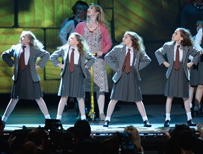 Cast members of Broadway production of Matilda the Musical