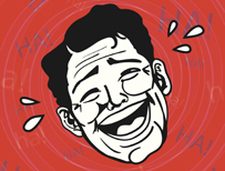 Illustration of someone laughing