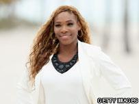 Serena Williams on beach