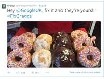 Greggs' doughnut Twitter picture