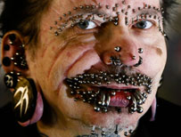 Rolf Buchholz, the world's most pierced man