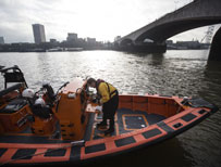 A lifeboat on the Thames