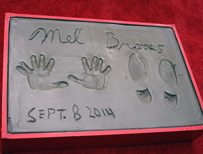Mel Brooks hand print with extra finger