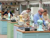 Contestants baking