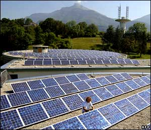 Large solar array at Chambery, France