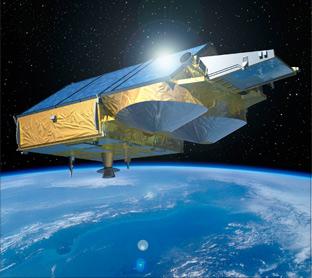 Graphic image of Cryosat satellite