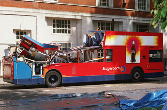 The Bomb Destroyed Rear Of Bus