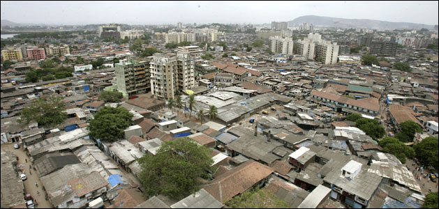View of Dharavi slum