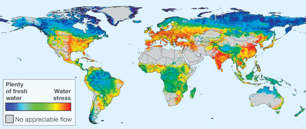 World Map Water.Water Map Shows Billions At Risk Of Water Insecurity Bbc News