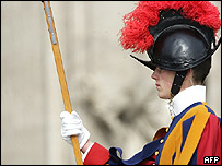 Swiss Guard on duty