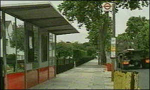 image: [ Stephen Lawrence was murdered at this bus stop on April 22, 1993 ]