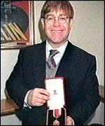[ image: Elton John...added an Ivor Novello to his MBE]