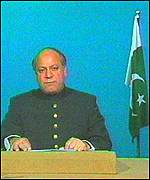 Pakistan PM Nawaz Sharif on national tv address