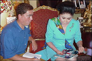 Chris Gunness and Imelda Marcos