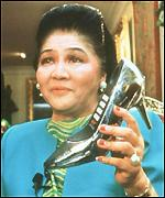 Imelda and shoe phone