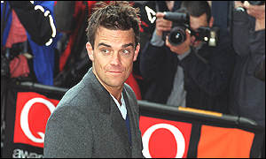Robbie Williams arrives at the Q Awards