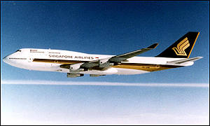 A Singapore Airlines Boeing 747