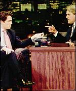 Hugh Grant appears on Tonight with Jay Leno
