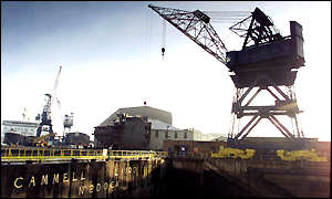 Cammell Laird's shipyard on the River Tyne
