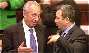 Shimon Peres and Ehud Barak