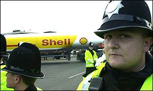 Shell and police