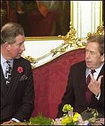 Prince Charles and Vaclav Havel
