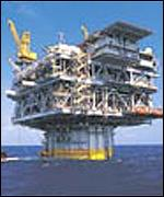 An Exxon Mobil installation in the Gulf of Mexico