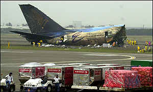 Singapore Airlines wreckage