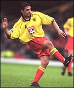 Charlie Miller in the colours of Watford