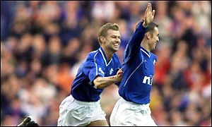 Kenny Miller celebrates his first goal