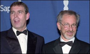 Prince Andrew and Steven Spielberg