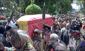 Coffin in procession