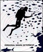 Promotional handout for shark deterrent