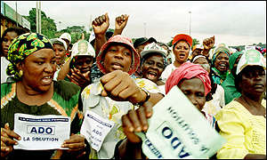 Ivory Coast, RDR political party supporters