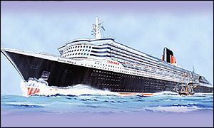 Artists impression of the Queen Mary II
