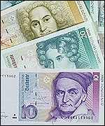 German bank notes