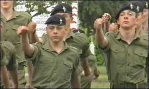 Young Army recruits