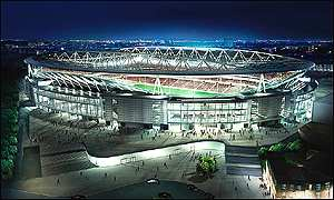 Plans for new Arsenal football stadium