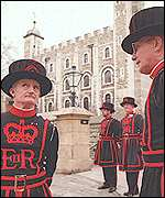 Yeomen warders at the Tower