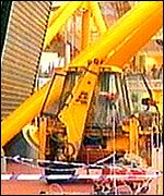 The JCB digger used to smash into the Dome