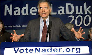 Green party leader, Ralph Nader
