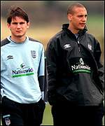 Frank Lampard and Rio Ferdinand