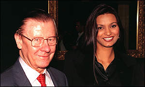 Eric Morley and 1998 Miss World Diana Hayden