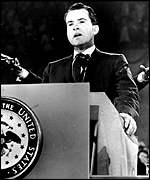 Richard Nixon, makes a speech as vice president (1960)