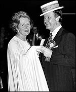 Eric Morley and Margaret Thatcher at the