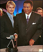 David Beckham and Muhammad Ali