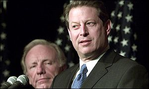 Joe Lieberman and Al Gore