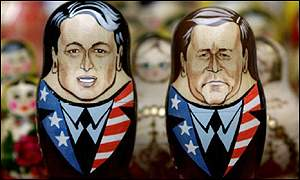 Gore, Bush matryoshka dolls